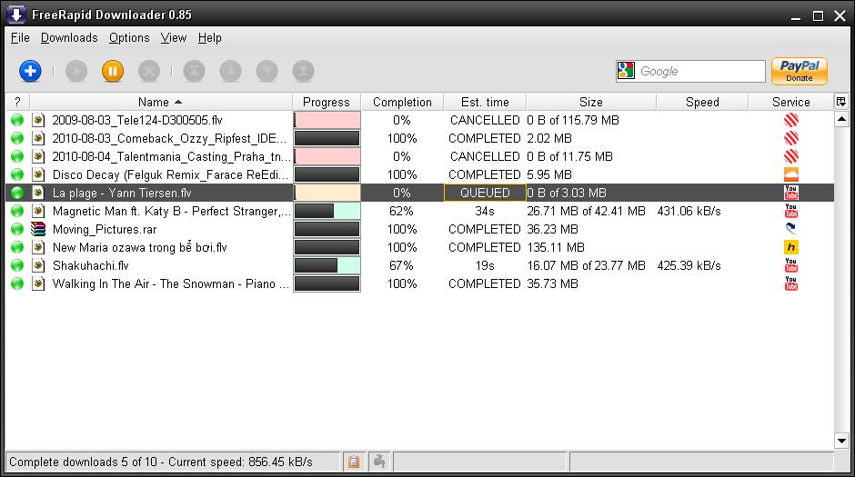 FreeRapid Downloader - Welcome